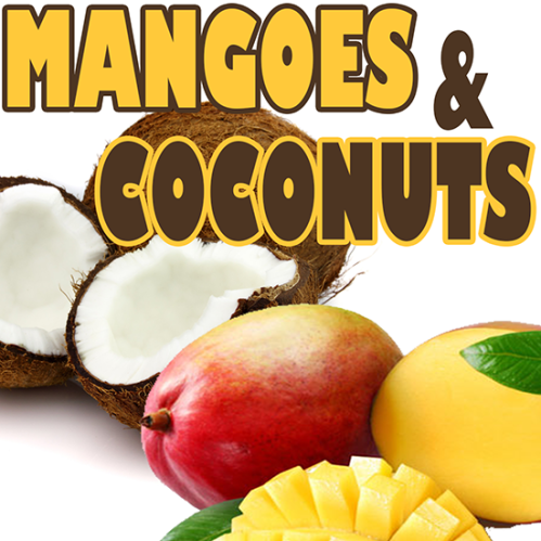 mangoes and coconuts